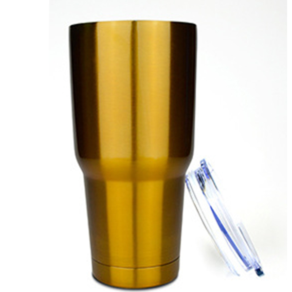 Vacuum 30 oz stainless steel tumblers with straws for coffee
