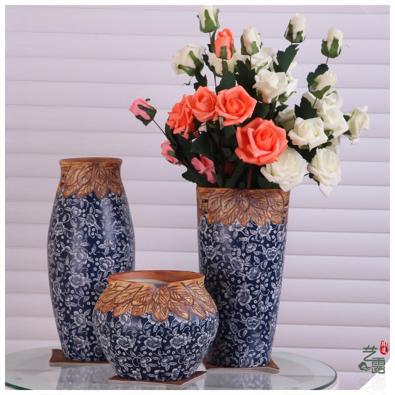 uinque ethnic style Office Table Porcelain Decorative Vase