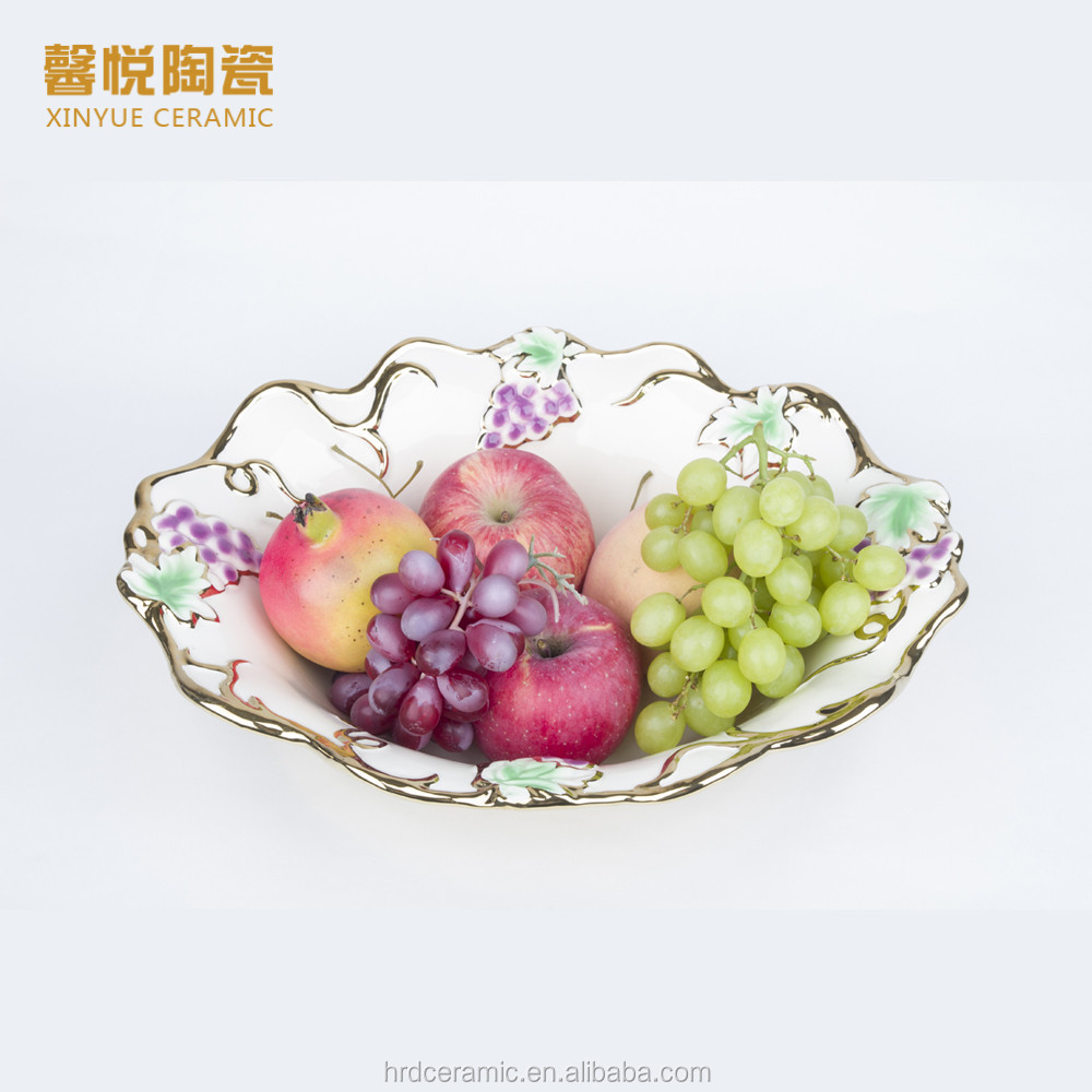 Stock Fashion Golden Ceramic Plate/ceramic diet plate on sale