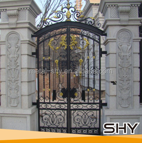 Wrought iron main gate design small buy