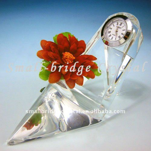 Pretty Crystal Table Clock,Desk Clock,Crystal Gift