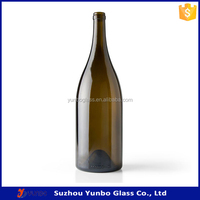 Wholesale 1.5 liter Antique Green Glass Burgundy Wine Bottle, Hot Sale Champagne Glass Bottles