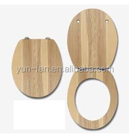three sides printed plastic duroplast toilet seat with soft closing system