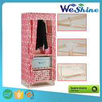 High Quality Simple Cabinet Shoe Storage Solid Wood Shoe Rack with Non-Woven Cover Folding Assembly Shoe Container