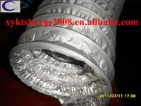4 inch pvc coated steel wire flexible duct hose heating and cooling systems