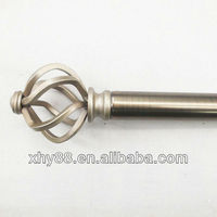 MF-007 White Metal Curtain Rods,Iron Curtain Rod Finials,Flexible Curtain Rod