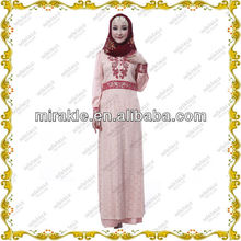 MF19292 Embroidery kaftan indonesia style abaya