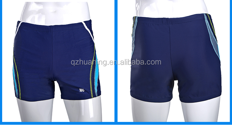 Men Blue Stripes Swimsuits Swimming Trunks Wholesale