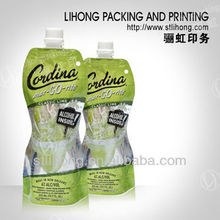 Food Grade Stand up Bag Wine Beverage Packaging Pouch
