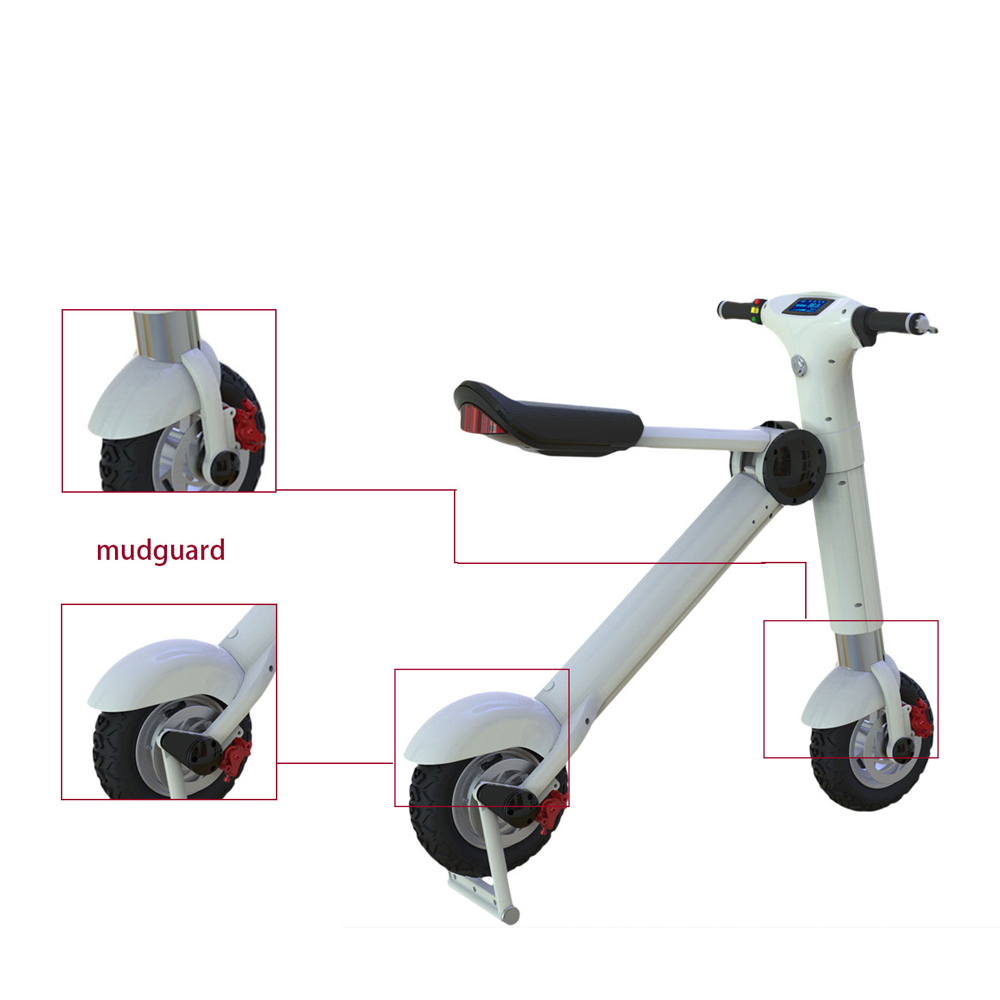6S4 36V Pocket Mini Electric Bike Disc Braking Scooter Cheap Motorcycle Two Wheel Bicycle