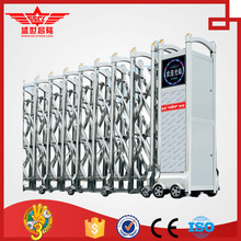 Stainless steel retractable gate of automatic factory main gate designs--J1375