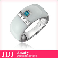 High Quality & Low Price Artificial Stone Jewels China Cz 925 Sterling Silver Rings