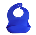 Wholesale blank baby bibs silicone waterproof baby bib with pocket