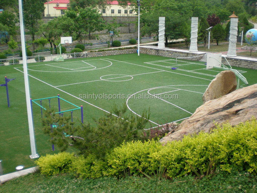 Basketball synthetic lawn grass with 5/32 inch gauge 10mm height