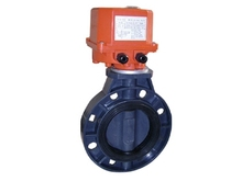 DC12V DC24V AC220V dn100 upvc electric plastic wafer butterfly valve
