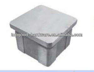 square stainless steel pipe threaded end cap