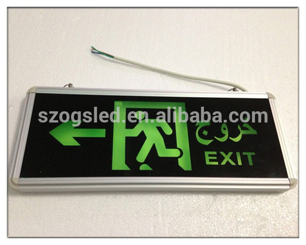emergency 3W glass fire exit signs arrow sign Elevator Emergency Light