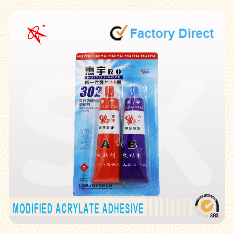 fast dry modified acrylic adhesive epoxy AB glue, for ceramic