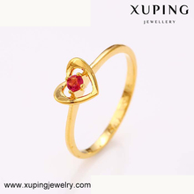 12462 xuping gold jewellery dubai women heart shape cz ring