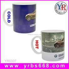 hot new promotional gift company for 2015 new business idea color change ceramic mug