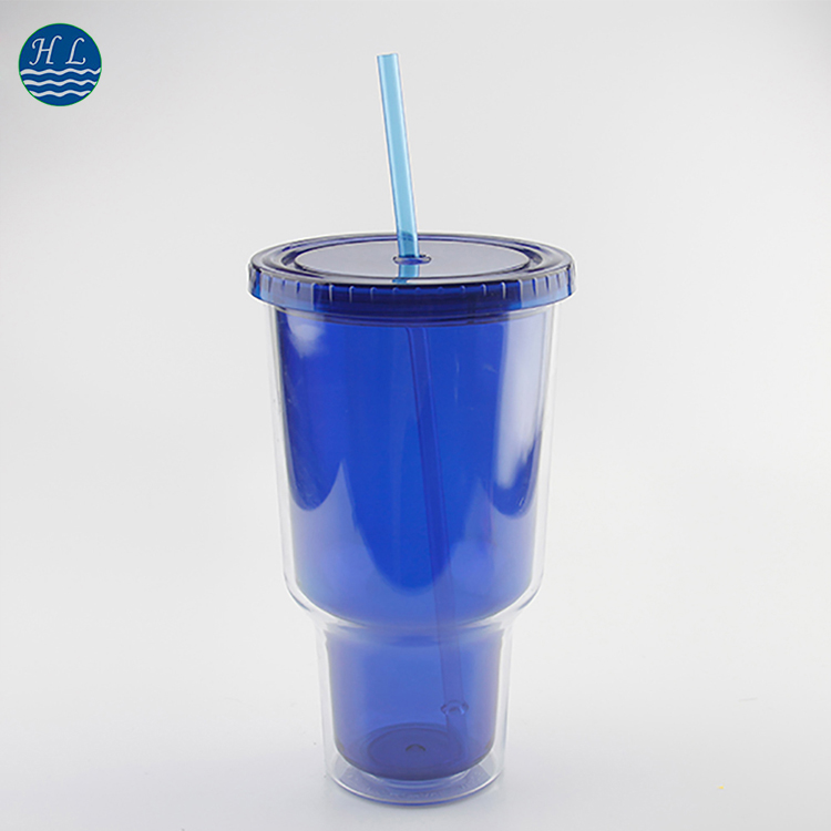 Top selling wholesale cheap custom plastic cup with straw and lid