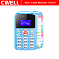 0.96 Inch Monochrome LCD SOS Function Very Small Card Size Mobile Phone AEKU M9