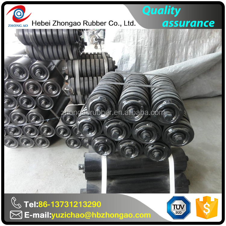 Low Friction Ageing Resistance Rubber Conveyor Roller Manufacturer