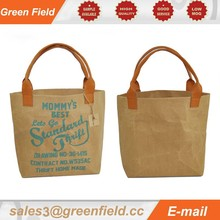 Washable kraft paper handbag,custom kraft paper handbag