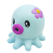 Slow Rising Pink Blue Octopus Jumbo Squishy Toy Cream Scented Simulation Cute Animal Toys Gift for Kids Lovely Stress Relief Toy
