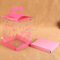 New Arrival special design pvc frosted plastic boxes with many colors