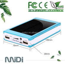 2014 Popular Gift Universal Portable urgent Solar mobile phone charger 10000mAh