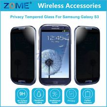 Used Mobile Phones Ultra Thin 9H 0.3Mm Anti-Spy Premium Tempered Glass Privacy Screen Protector For Samsung Galaxy S3