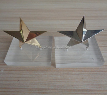 hot sale high quality gold 3D star shaped trophy for desk decoration