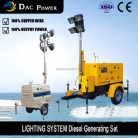 5kva Diesel Generator Set 4 X 400 Watts Lights Mobile Light Tower