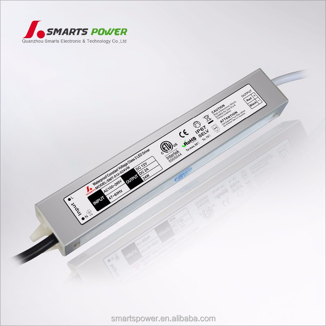 CE ETL listed 110v 220v ac to 12v dc 24w slim led driver 12v 2a power supply