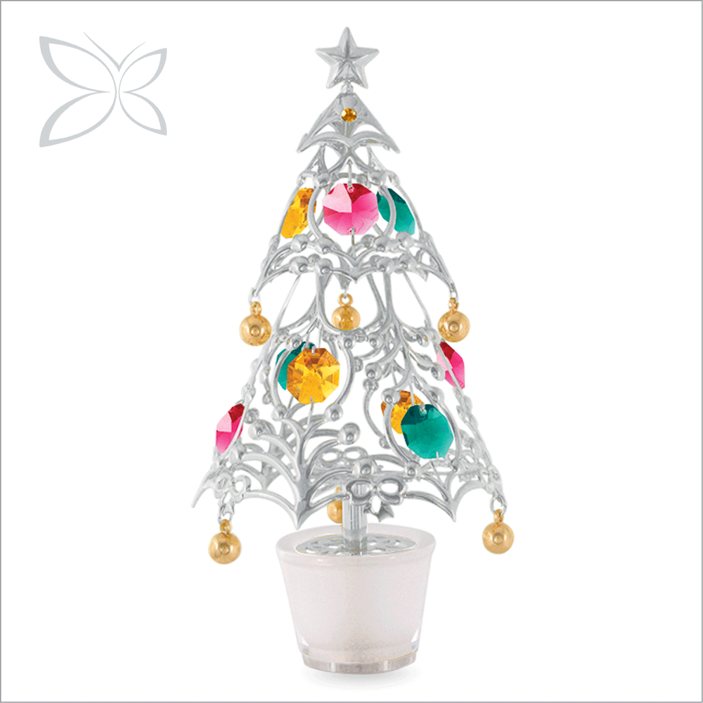 Latest Sliver Plated Crystal Christmas tree Perfume Car Air Fresheners