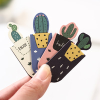 Top Quality Wholesale Cute Cactus Sakura Magnetic Bookmarks of Page Student Stationery School Office Supply Paper Bookmark