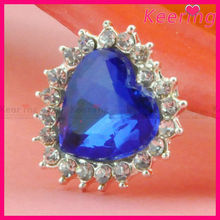 Newest fashion blue crystal rhinestone mixed buttons WBK-1325