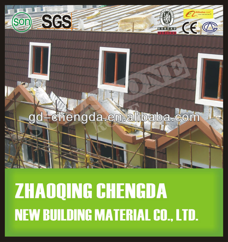 Asphalt Roofing Felt Roof Tile / Stone Coating Metal Roof