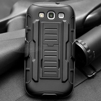 For Samsung S6 S6Edge S5 S4 S3 NOTE 3 4 Rugged Plastic Hybrid Armor Case For iphone6 6plus 5 4 Slim Stand Shock Proof Back Cover