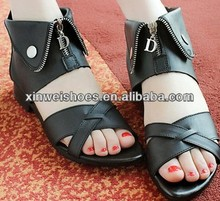 Girls nude fashion casual africa sandals no heel sandals