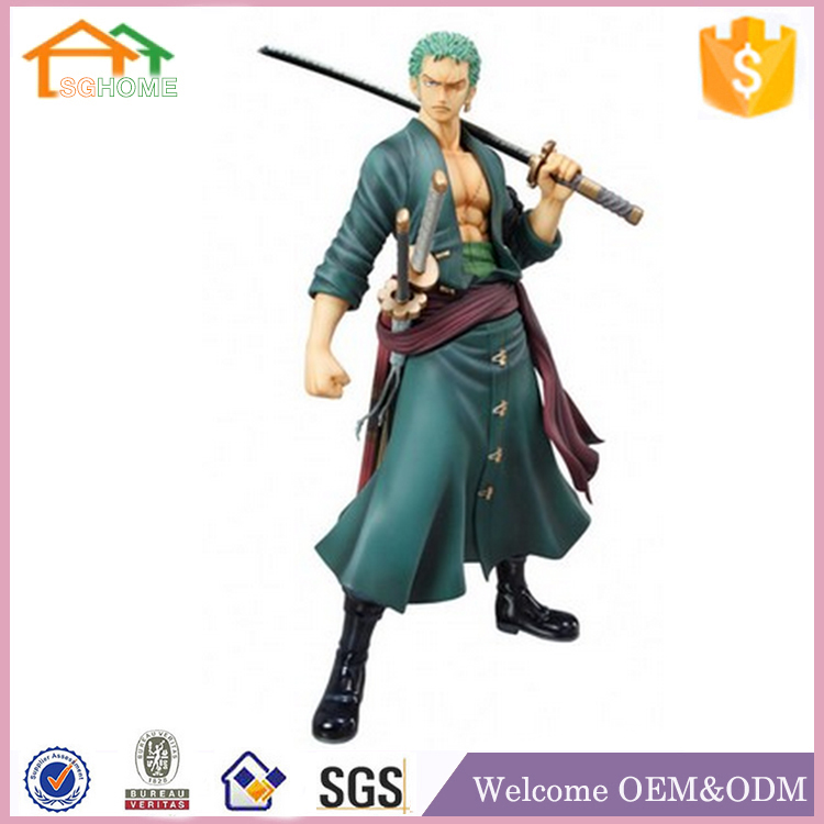Factory Custom made best home decoration gift polyresin resin one piece roronoa zoro action figure