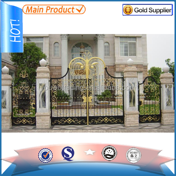 Elegant and Consolidated Wrought Iron Car Driveway Swing Gate