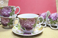 ceramic cup and saucer, porcelain tea cup and saucer, coffee set