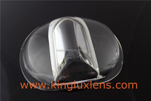 107mm 160*75 degree led glass lens for Bridgelux RS Array Series