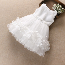 B4249 High Quality 2017 Baby Girl Princess Party Lace Tulle Flower Gown Fancy Dress