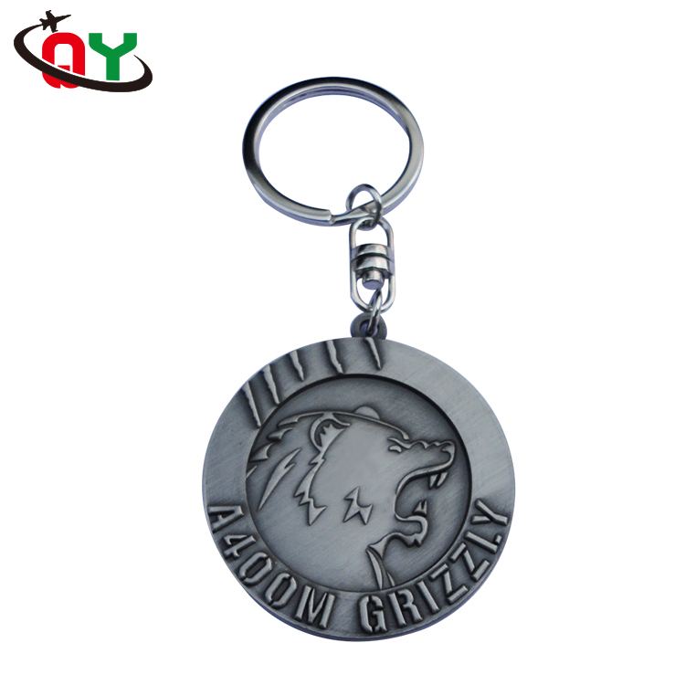classic style tiger lion animal personalised keyrings eight word buckle key chain holder antique finished zinc alloy keychain