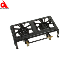 High Quality Tempered Glass Top 3 Cast Iron Burner Gas Cooker