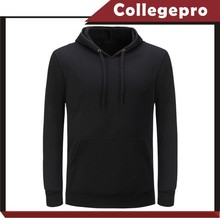 Men black cheap custom blank pull over plain hoodies