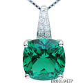 925 Sterling Silver Green Spinel Pendant Jewelry For Woman DR031947P